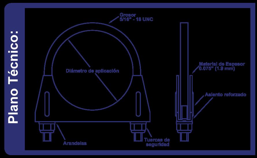Abrazaderas Moffler Serie4000 Standard Plano Tecnico